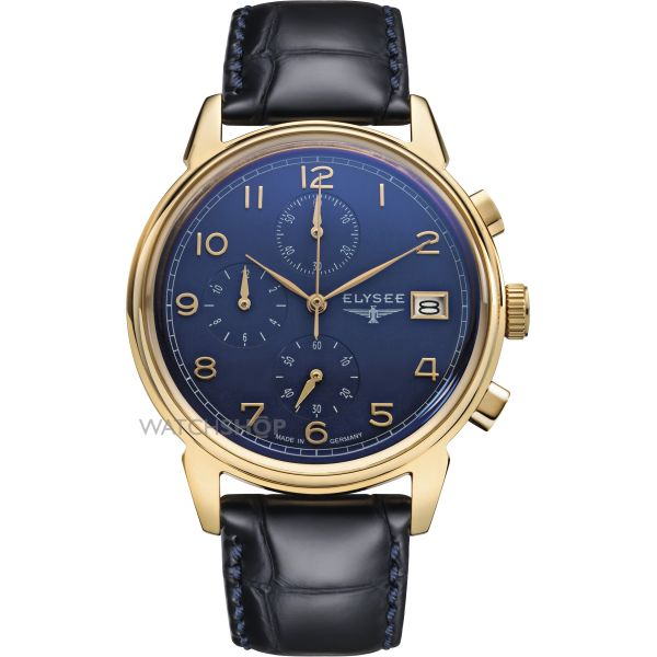 Mens Elysee Vintage Chronograph Watch 80552