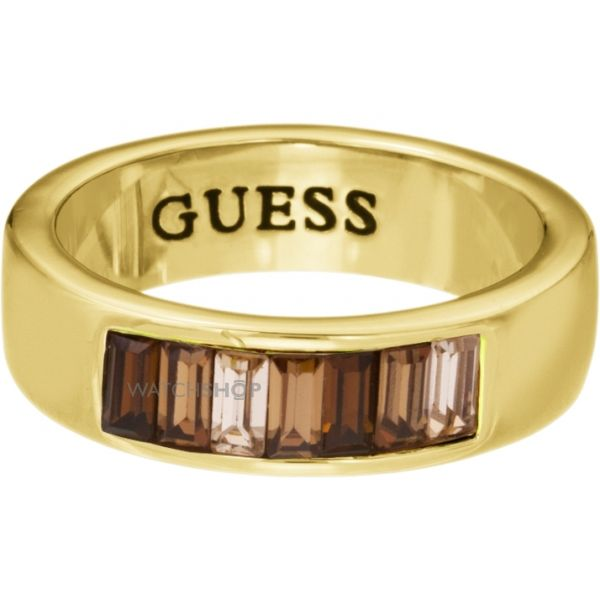 Ladies Guess PVD Gold plated Size L.5 Ring UBR51403-52