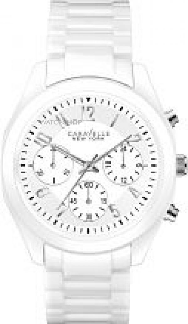 Ladies Caravelle New York Emma Ceramic Chronograph Watch 45L145