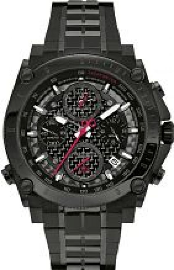 Mens Bulova Precisionist Chronograph Watch 98G257