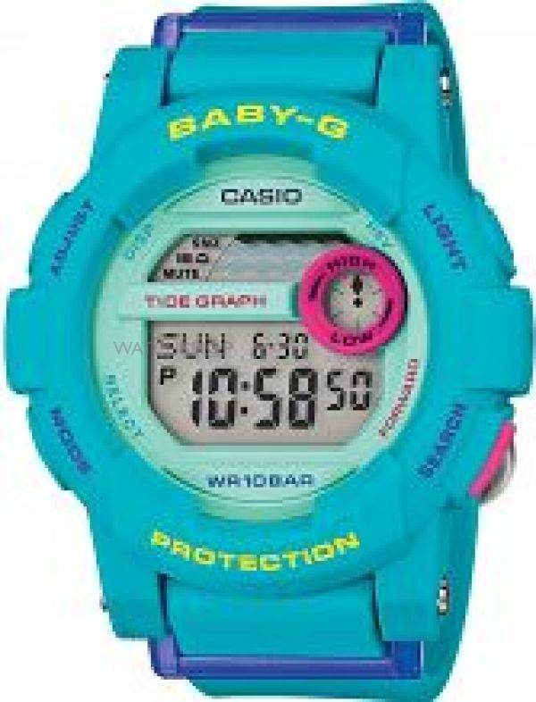 Ladies Casio Baby-G Alarm Chronograph Watch BGD-180FB-2ER