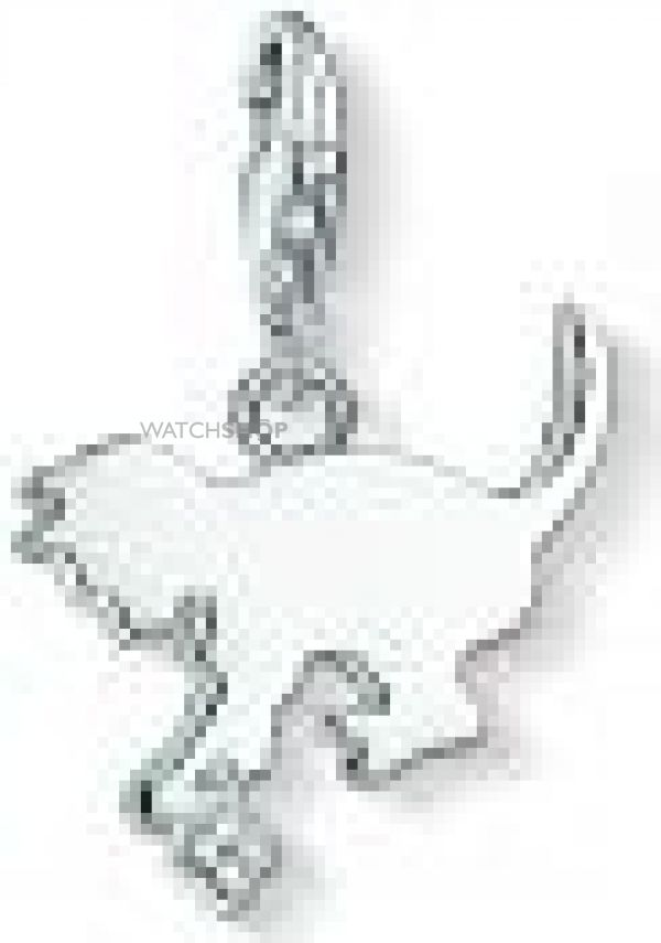 Ladies Thomas Sabo Sterling Silver Charm Club Anniversary Kitten Diamond Charm Pendant DC0025-725-14