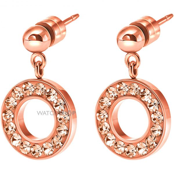 Ladies Folli Follie PVD rose plating Classy Earrings 5040.2560