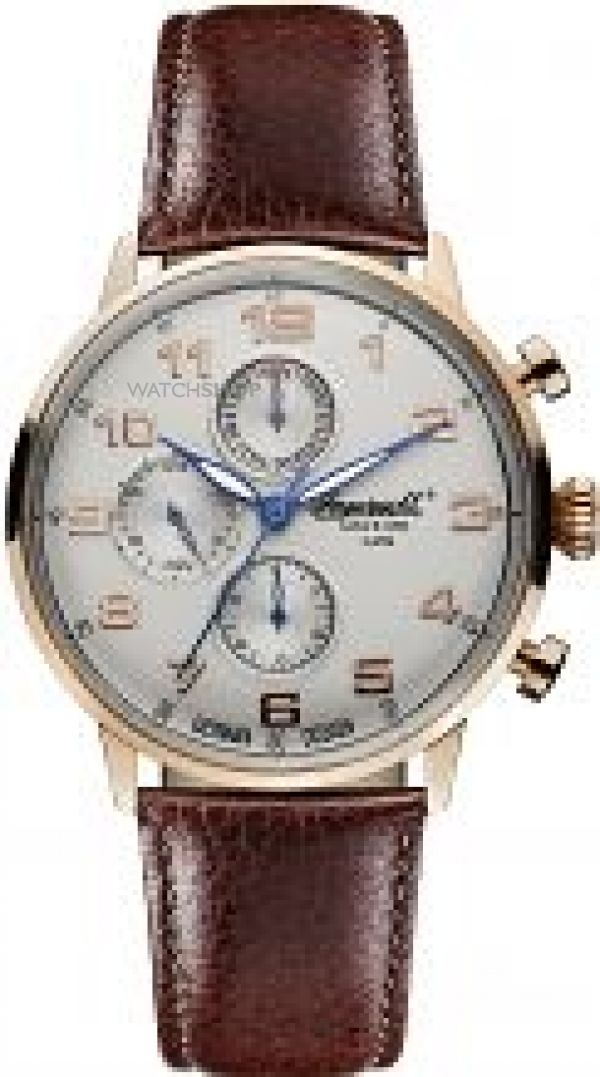 Mens Ingersoll Chronograph Watch INQ037SLRS