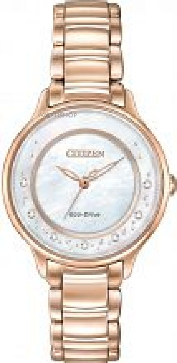 Ladies Citizen Circle Of Time Diamond Eco-Drive Watch EM0382-86D
