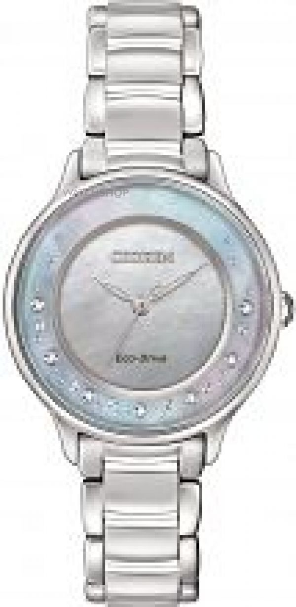 Ladies Citizen Circle Of Time Diamond Eco-Drive Watch EM0380-81N