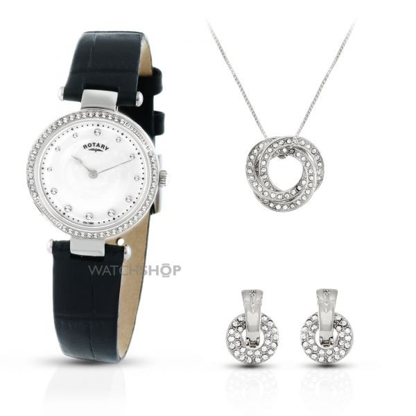 Ladies Rotary Exclusive Necklace Gift Set Watch LS00511/41/SET