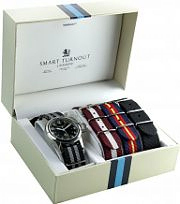 Mens Smart Turnout Watch STJ/52/003/BK/W-SET