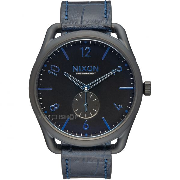 Mens Nixon The C45 Leather Watch A465-2153