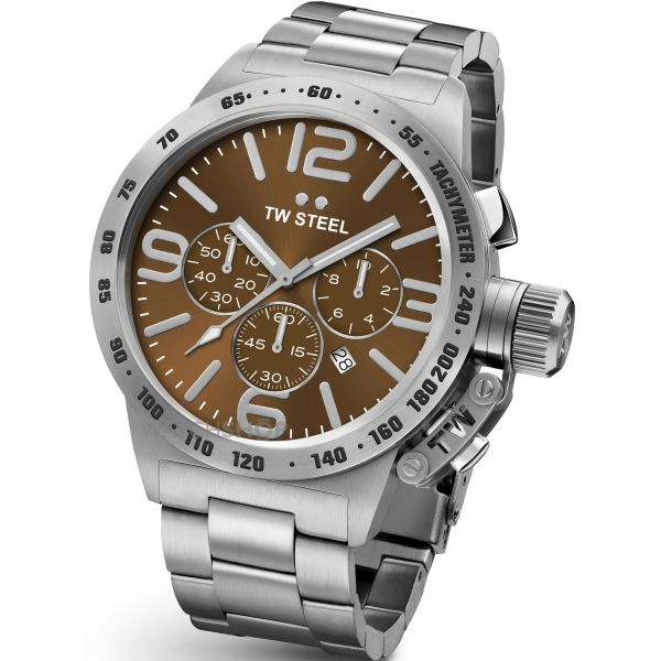 Mens TW Steel Canteen Chronograph 45mm Watch CB0023