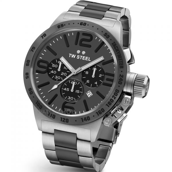 Mens TW Steel Canteen Chronograph 45mm Watch CB0203