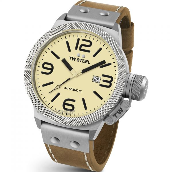 Mens TW Steel Canteen Automatic 50mm Watch CS0016