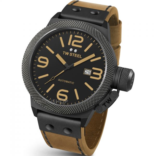 Mens TW Steel Canteen Automatic 50mm Watch CS0046