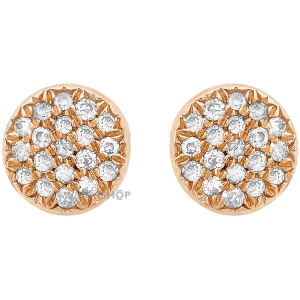 Ladies Essentials 9ct Rose Gold Diamond Stud Earrings AJ-12152365