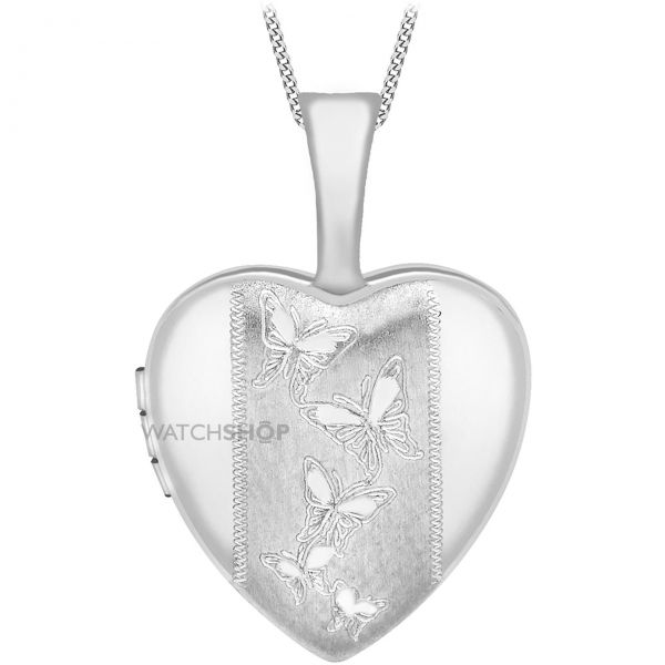 Ladies Essentials 9ct White Gold 12mm Heart Locket AJ-14010048