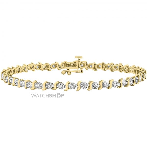 Ladies Essentials 9ct Gold Diamond Set Bracelet AJ-12110667