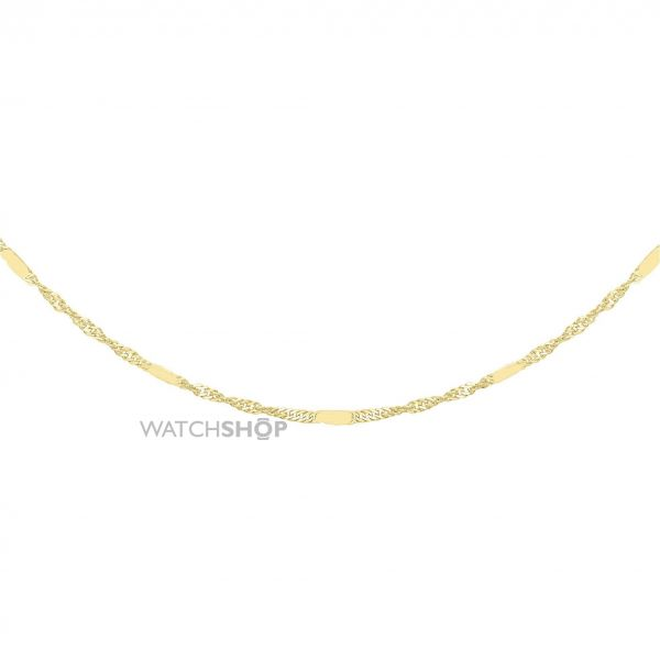 Ladies Essentials 9ct Gold 16 Inch Twisted Curb Chain AJ-13010155