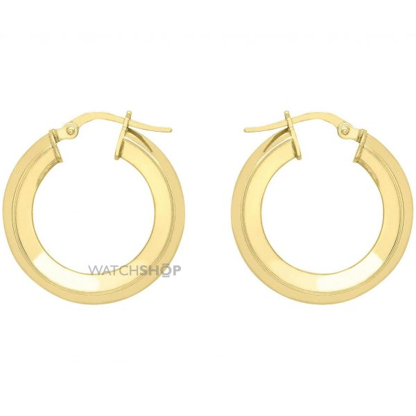 Ladies Essentials 9ct Gold Medium Hoop Earrings AJ-15030431