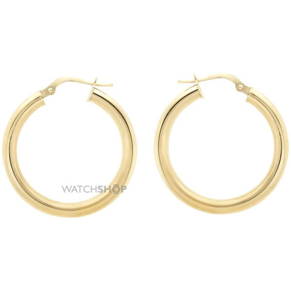 Ladies Essentials 9ct Gold 20mm Hoop Earrings AJ-15030443
