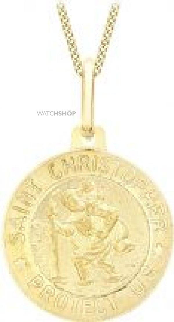 Ladies Essentials 9ct Gold St Christopher Pendant AJ-14240004