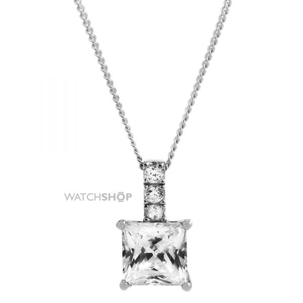 Ladies Essentials 9ct White Gold Cubic Zirconia Pendant AJ-14410138