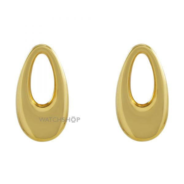 Ladies Essentials Sterling Silver Vermeil Oval Earrings AJ-37230781
