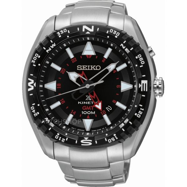 Mens Seiko Prospex GMT Kinetic Watch SUN049P1