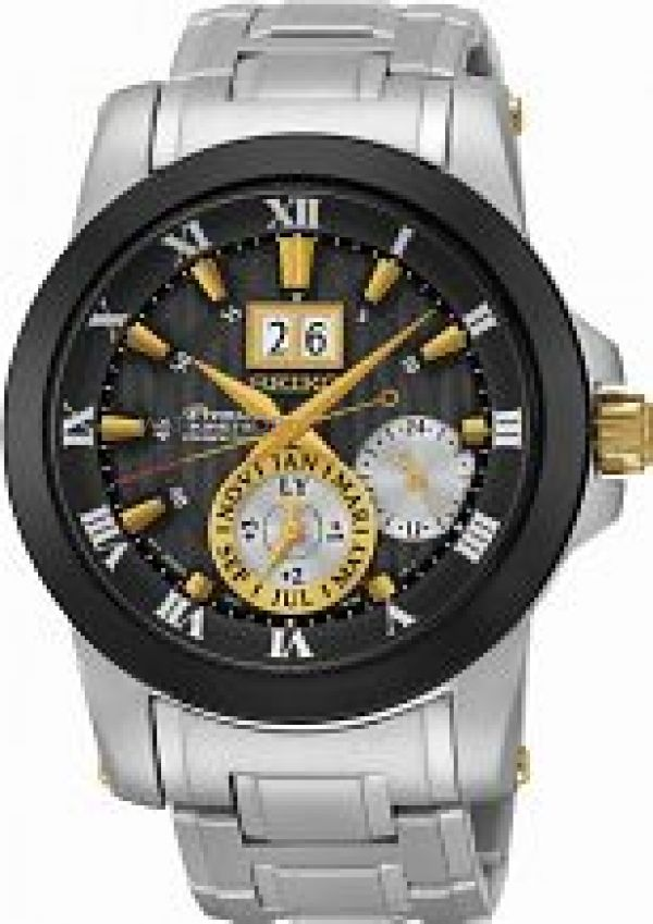 Mens Seiko Premier Kinetic Watch SNP129P1