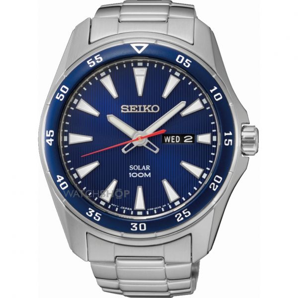 Mens Seiko Solar Powered Watch SNE391P1