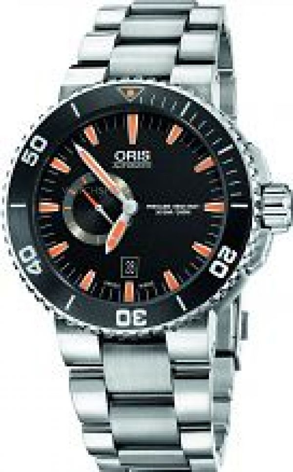 Mens Oris Aquis Small Second Date Automatic Watch 0174376734159-0782601PEB