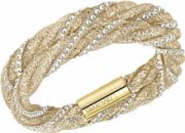 Ladies Swarovski PVD Gold plated Stardust Twist Bracelet 5189657