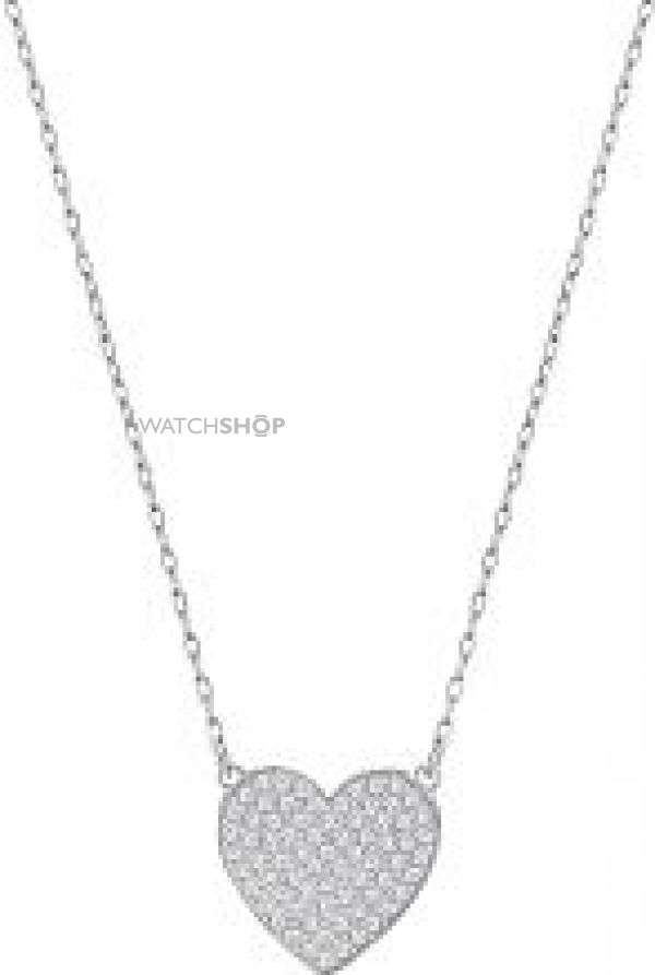 Ladies Swarovski Rhodium Plated Cupid Necklace 5198938