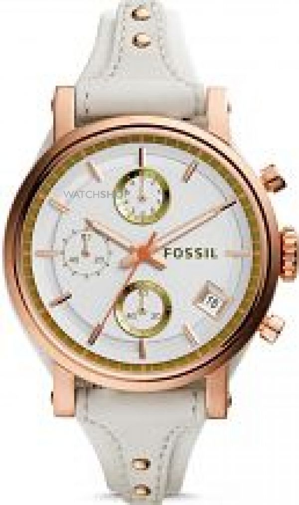 Ladies Fossil ORIGINAL BOYFRIEND Chronograph Cuff Watch ES3947