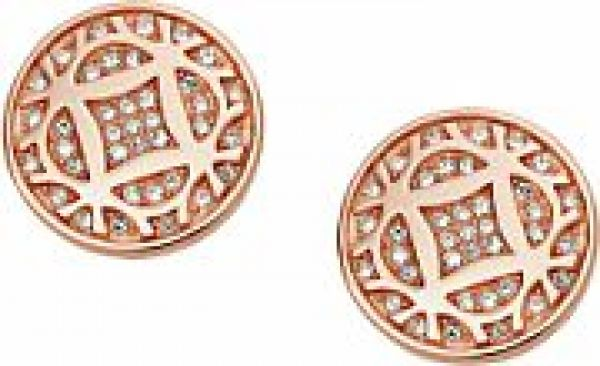Ladies Fossil PVD rose plating ICONIC EARRINGS JF01434791
