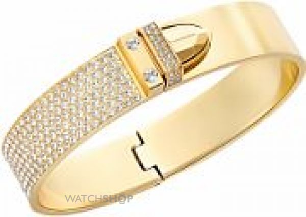 Ladies Swarovski PVD Gold plated DISTINCT BANGLE 5202247