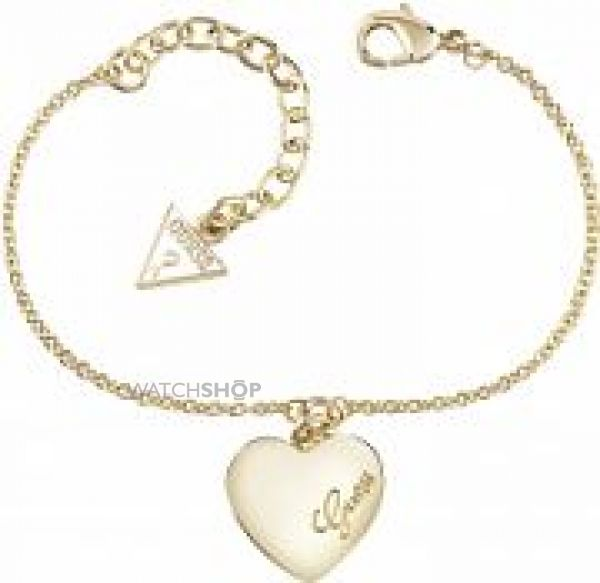 Ladies Guess Gold Plated Heartbeat Bracelet UBB61045-L