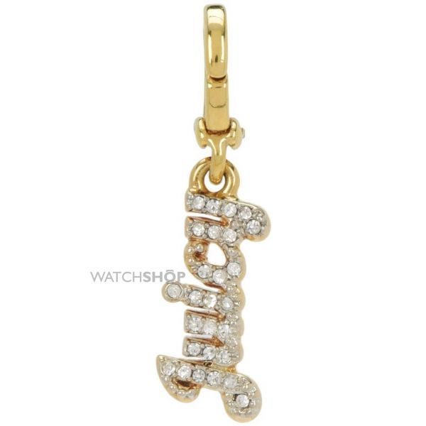 Ladies Juicy Couture PVD Gold plated Little Luxuries Pave Juicy Charm WJW768-710