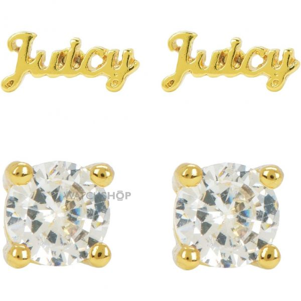 Ladies Juicy Couture PVD Gold plated Juicy Expressions Stud Earring Set WJW739-710