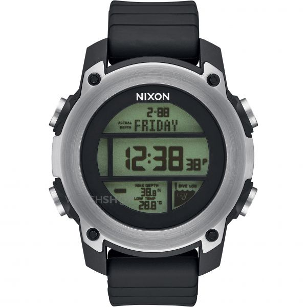 Mens Nixon The Unit Drive Alarm Chronograph Watch A962-000