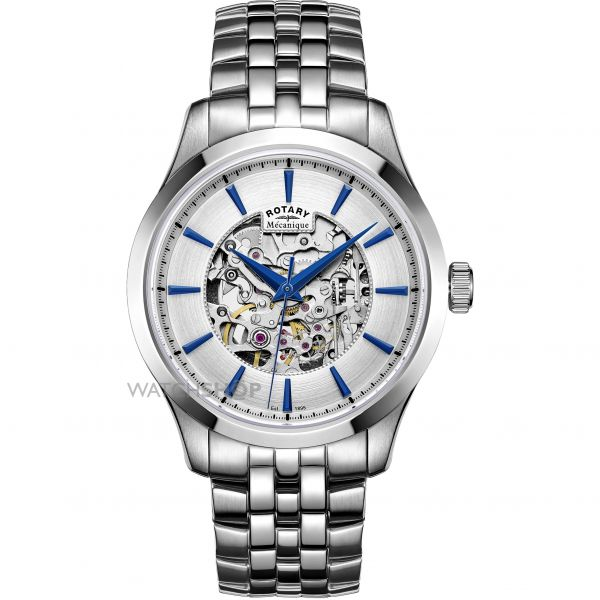 Mens Rotary Mecanique Skeleton Automatic Watch GB05032/06
