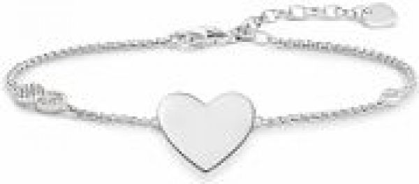 Ladies Thomas Sabo Sterling Silver HEART WITH INFINITY BRACELET A1486-051-14-L19.5V