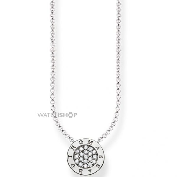 Ladies Thomas Sabo Sterling Silver Glam & Soul Classic Pave Necklace KE1493-051-14-L45V