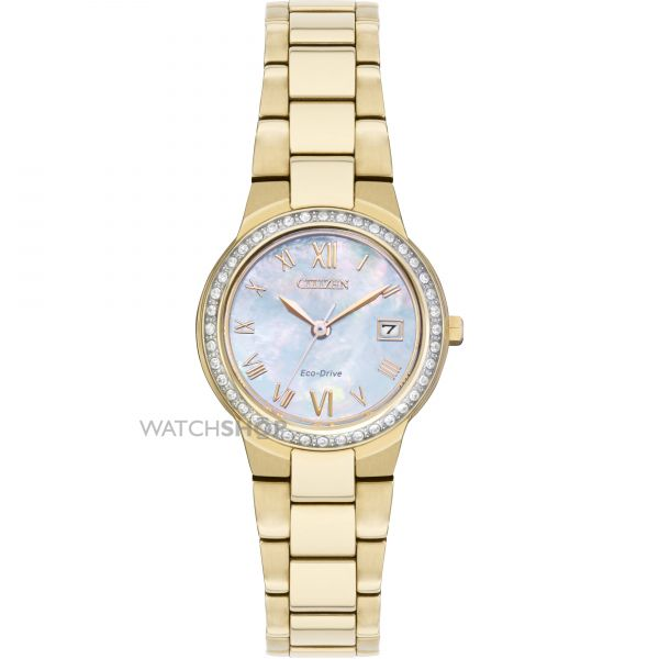 Ladies Citizen Silhouette Crystal Eco-Drive Watch EW1992-52N
