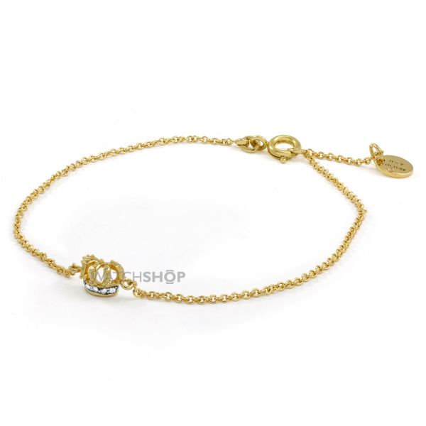 Ladies Juicy Couture PVD Gold plated Crown Bracelet WJW815-710