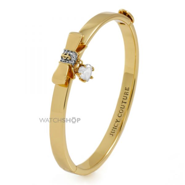 Ladies Juicy Couture PVD Gold plated Bow And Heart Bangle WJW847-710