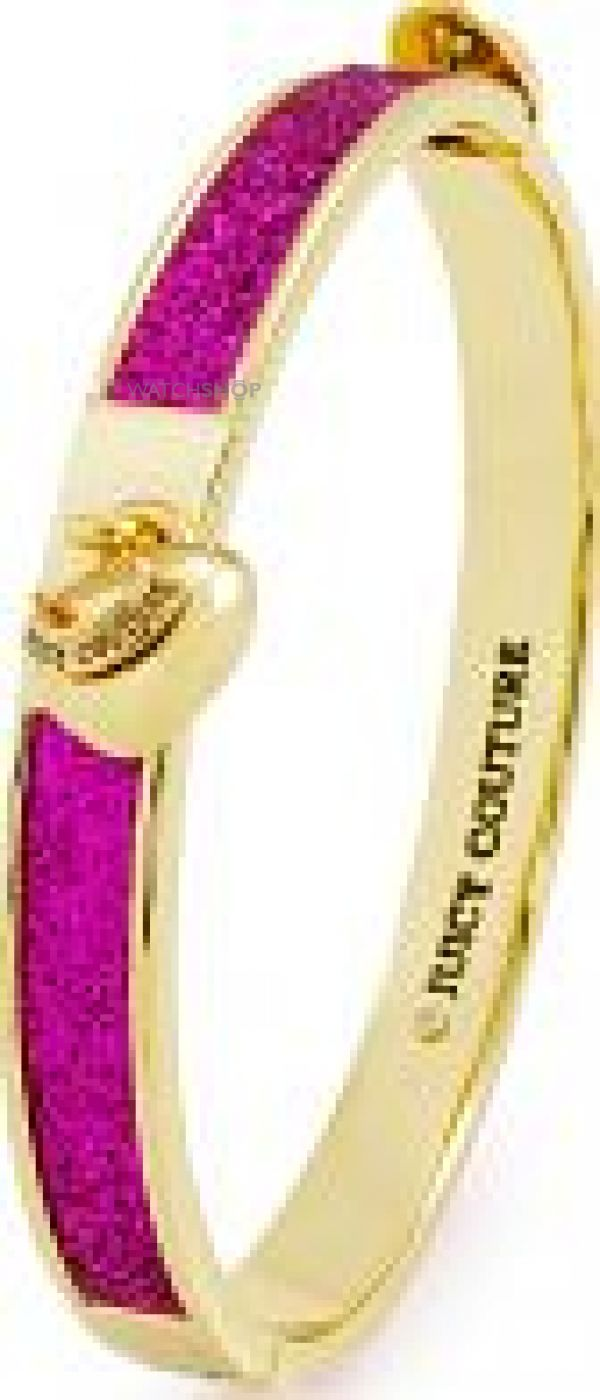 Ladies Juicy Couture Gold Plated Glitter Hinged Bangle WJW903-678-U