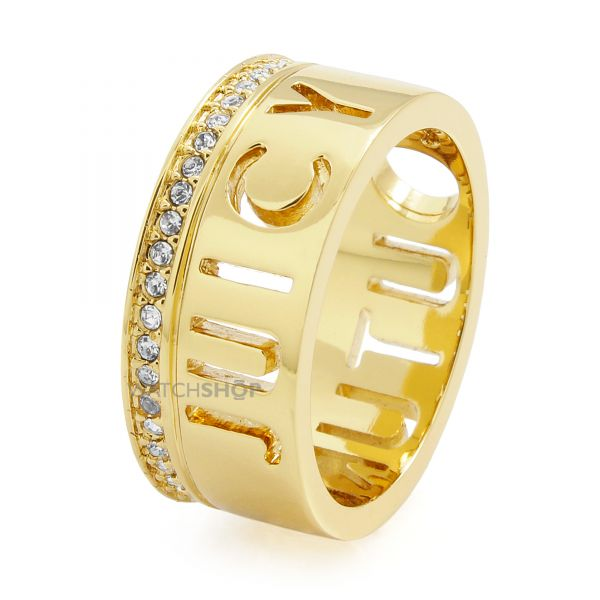 Ladies Juicy Couture Gold Plated Juicy Tags Ring WJW918-710-6