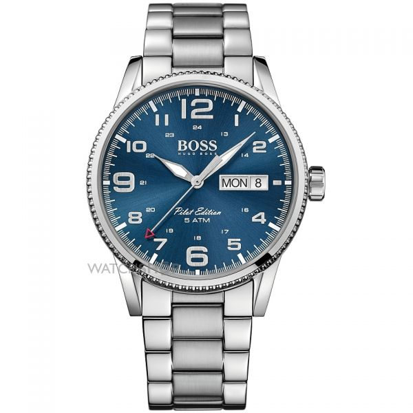 Mens Hugo Boss Pilot Vintage Watch 1513329