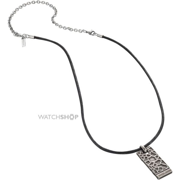 Mens Police Stainless Steel Armature Necklace 25684PLE/01