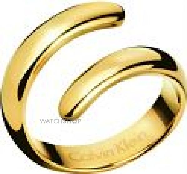 Ladies Calvin Klein PVD Gold plated EMBRACE RING SIZE S KJ2KJR100109